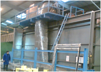 Large area powder coating facilities